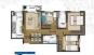 Planta do Apartamento - 66m² - 3 Dormitórios sendo uma Suíte - Banheiro Social - 1 Vaga de Garagem - Terraço - Sala de Estar - Sala de Jantar - Cozinha - Área de Serviço.